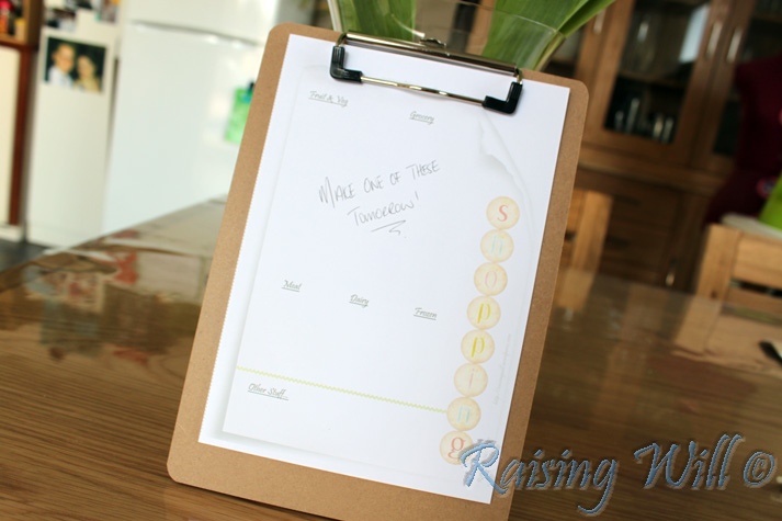Make a Shopping List with Raising Will!