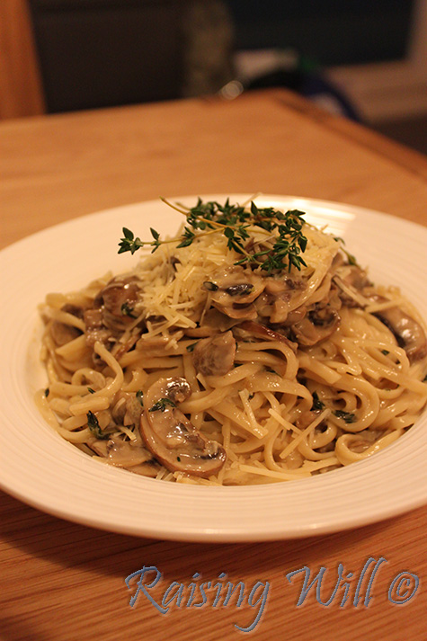 Mushroom & Thyme Creamy Pasta