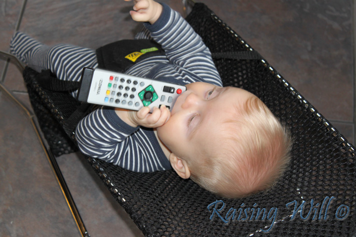 Will's new favourite food... REMOTES!