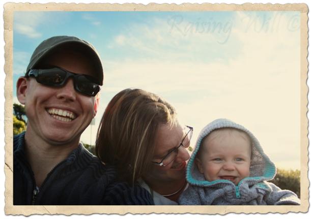 The family in Tassie